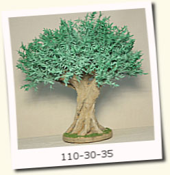Olivo hoja metálica 35cm aprox.-